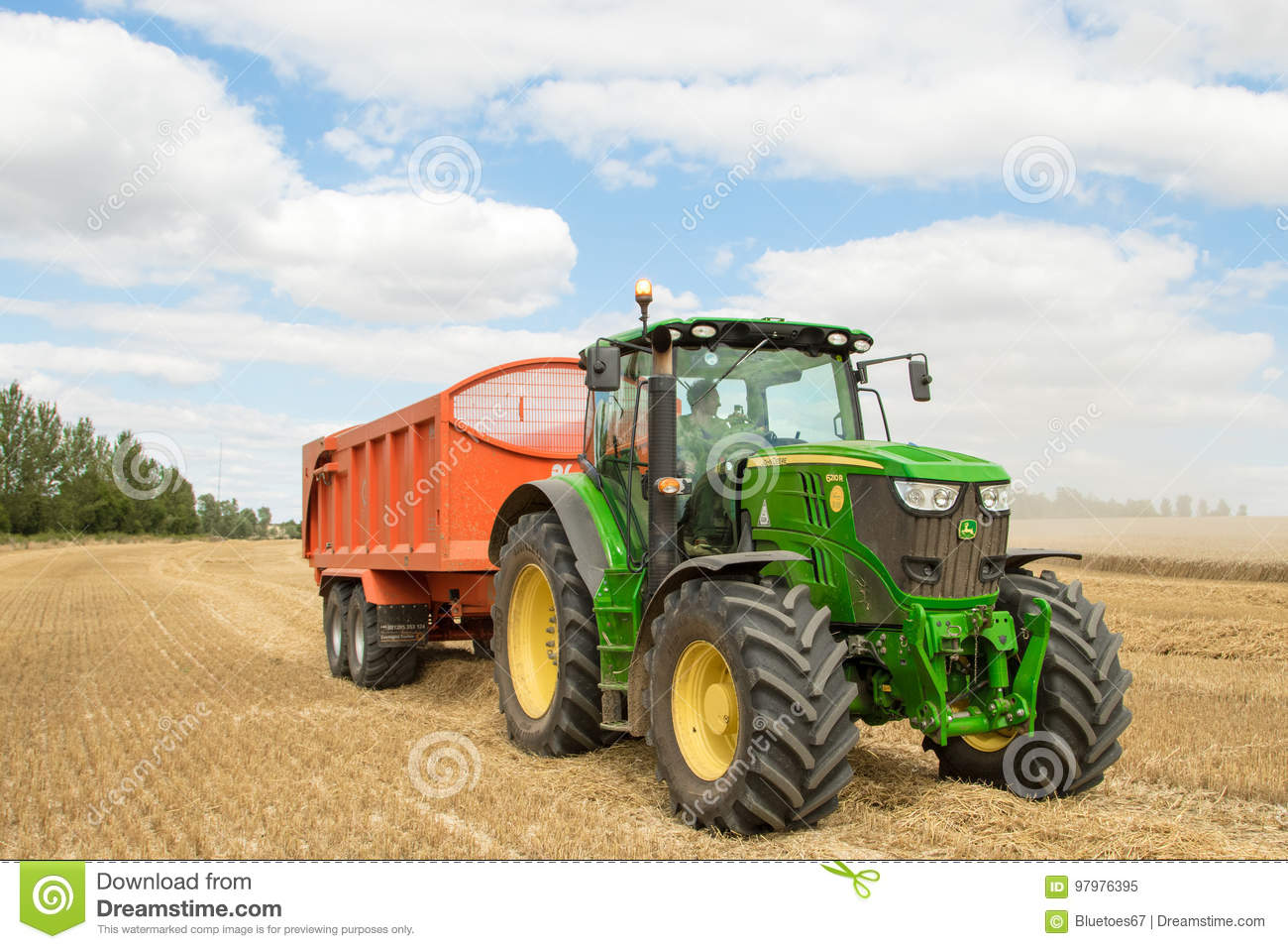 Up The Tractor Green Tractor With Bucket Cartoon : Modern green point of buying up the used plastic