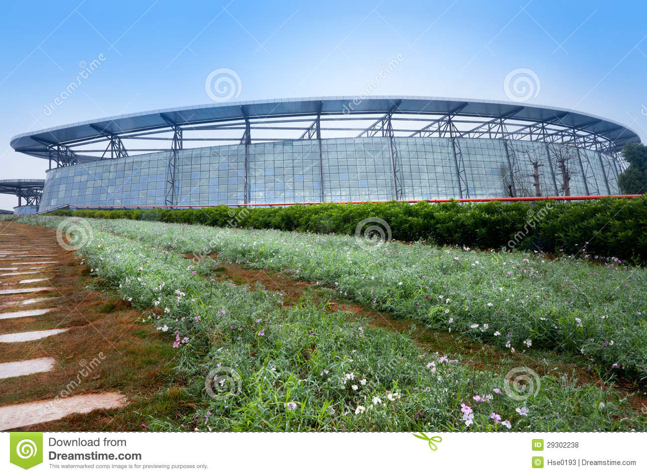 Modern greenhouse building royalty free stock photos for Modern greenhouse design