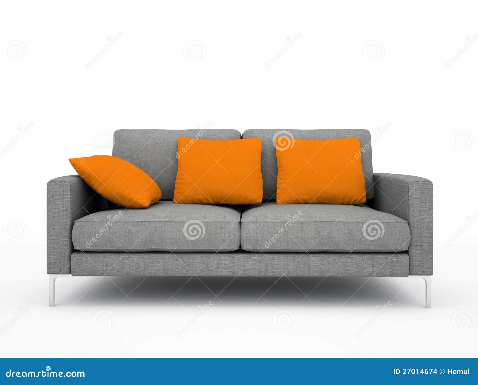 Modern Grey Sofa Stock Images Image 27014674