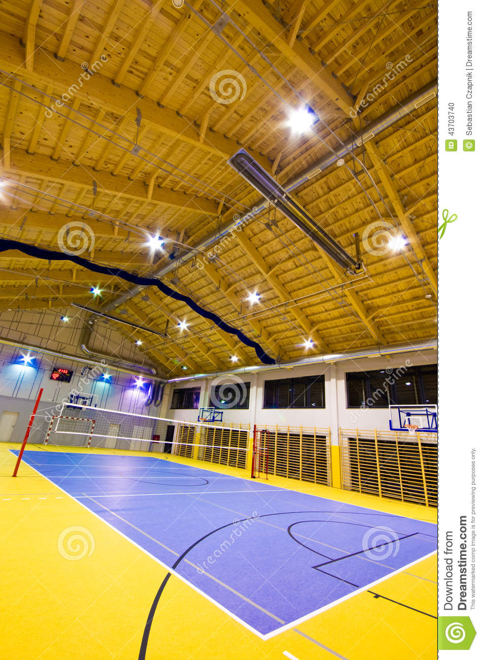 Modern gym interior stock photo image