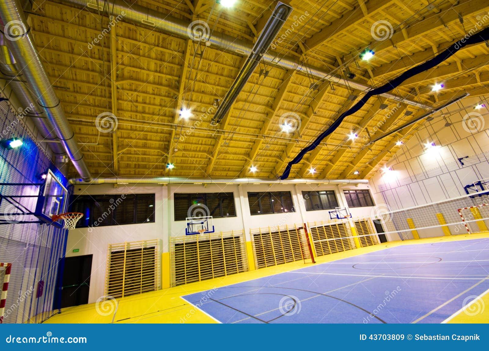 Modern gym interior stock image image of night empty