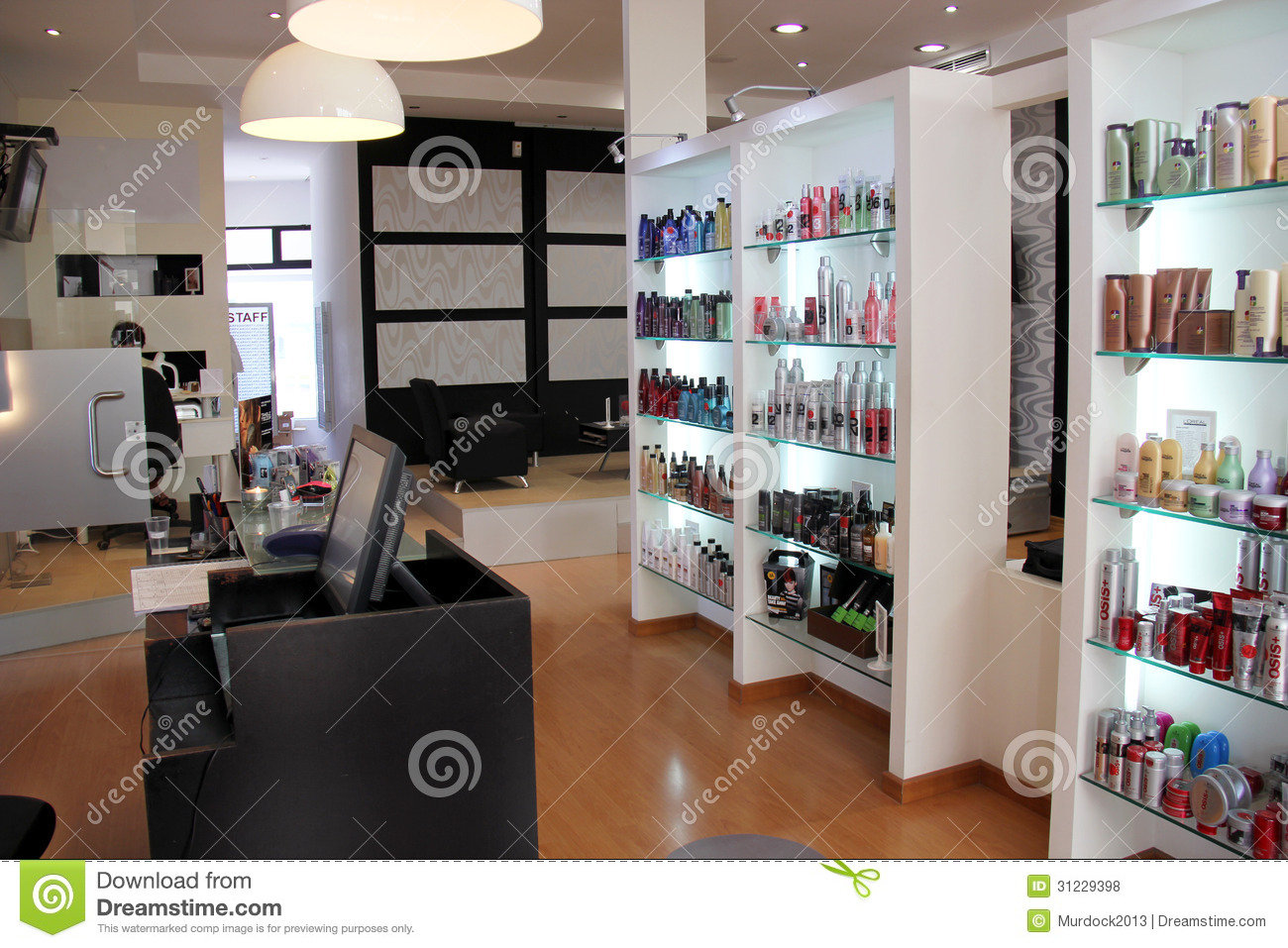 Modern hair salon editorial stock photo image of for Photo salon moderne