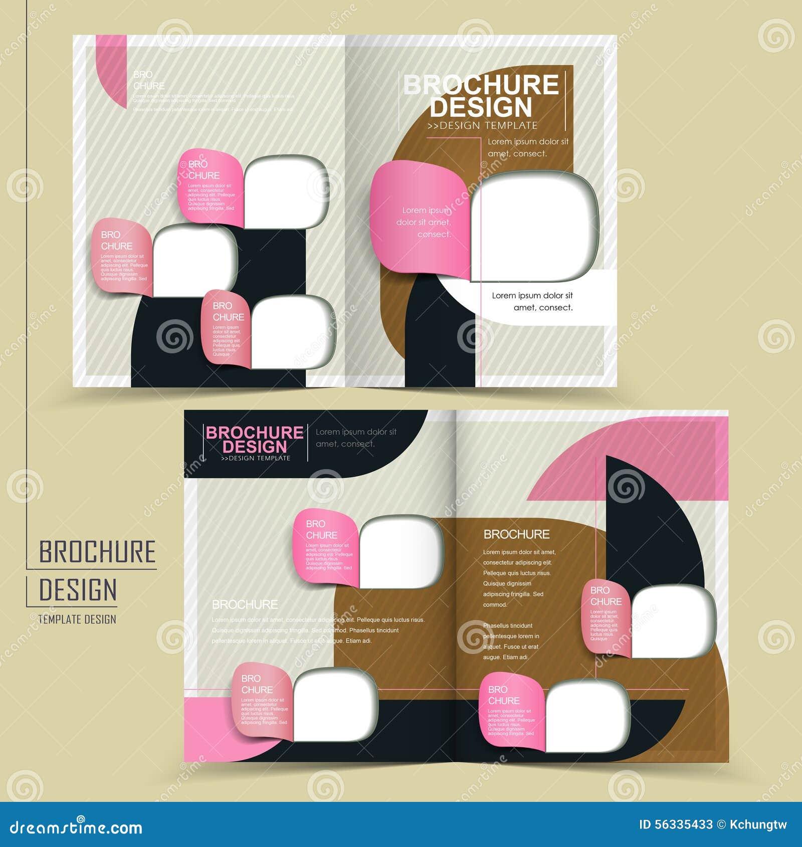 modern half fold brochure design stock vector illustration of