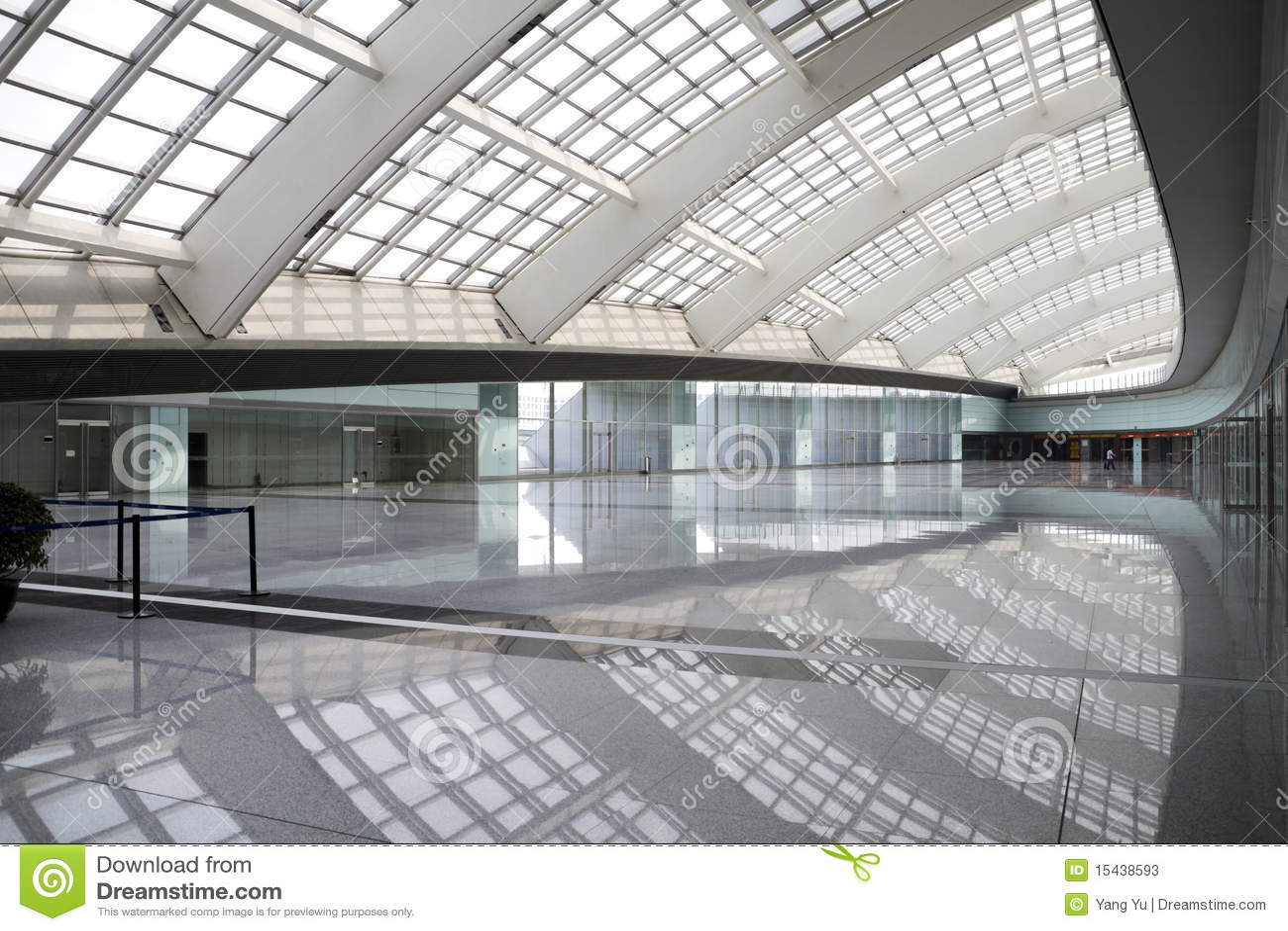 Modern hall in beijing T3 airport