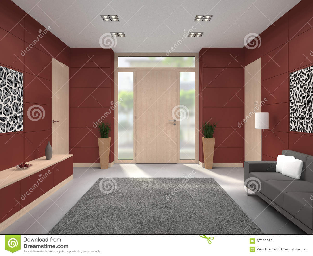 Modern Hallway Front Door Interior Stock Illustration & Modern Hallway Front Door Interior Stock Illustration - Image ... Pezcame.Com