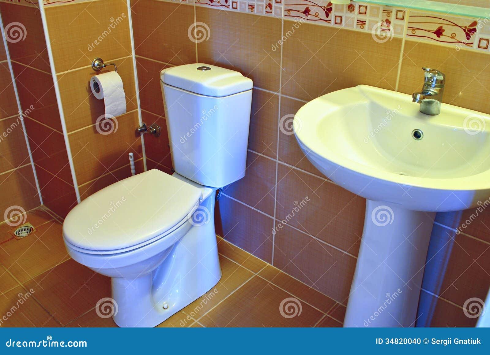 modern hand basin and toilet stock photo  image  - basin bathroom fixtures hand hotel house interior modern