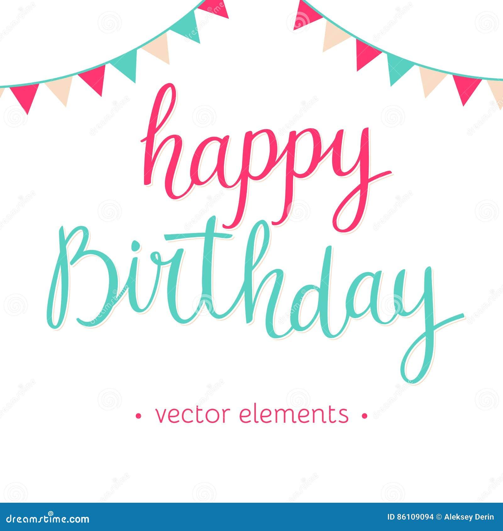 Modern hand drawn lettering happy birthday stock vector modern hand drawn lettering happy birthday graphic background bookmarktalkfo Choice Image