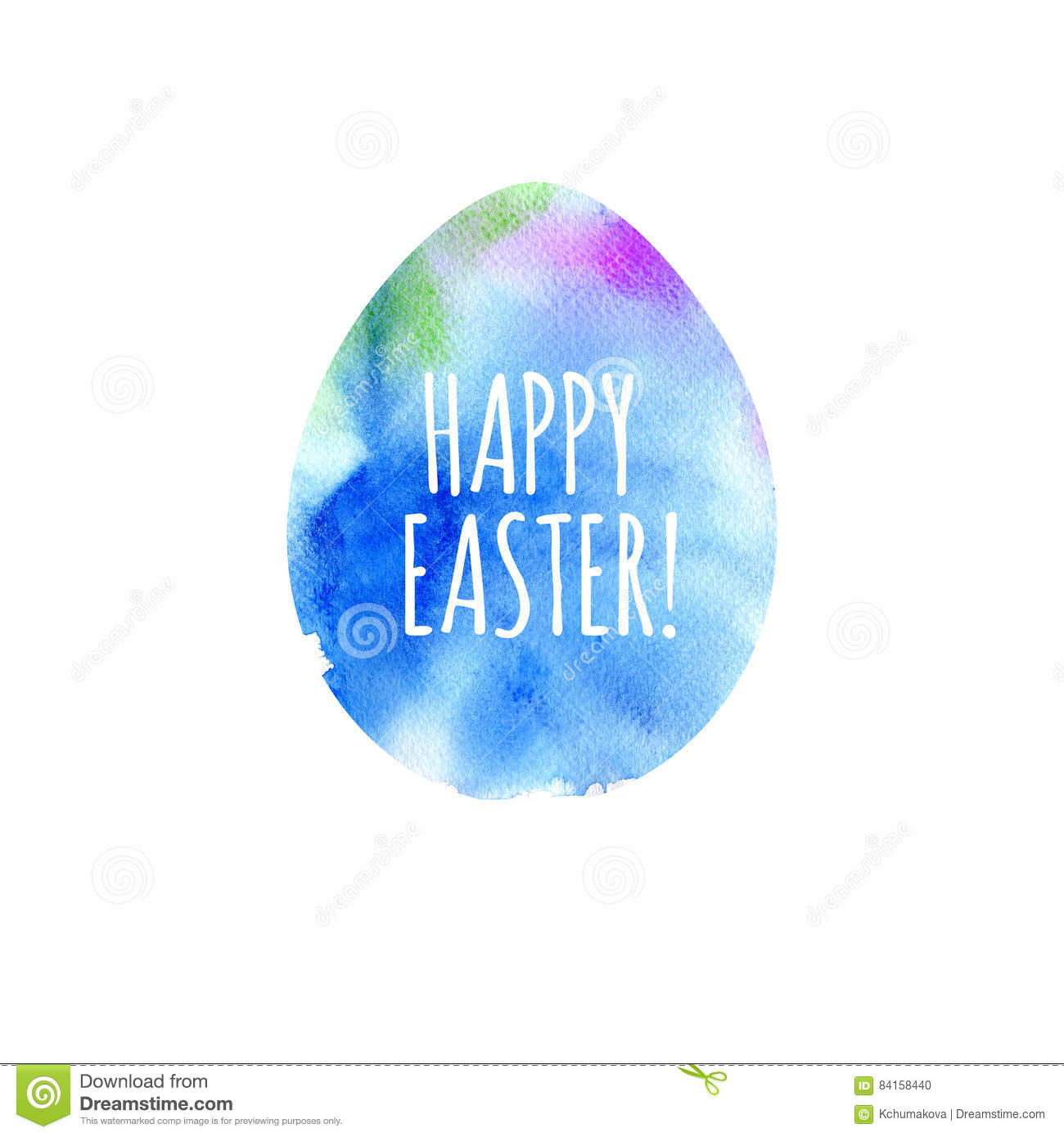 modern happy easter template for greeting card or invitation design