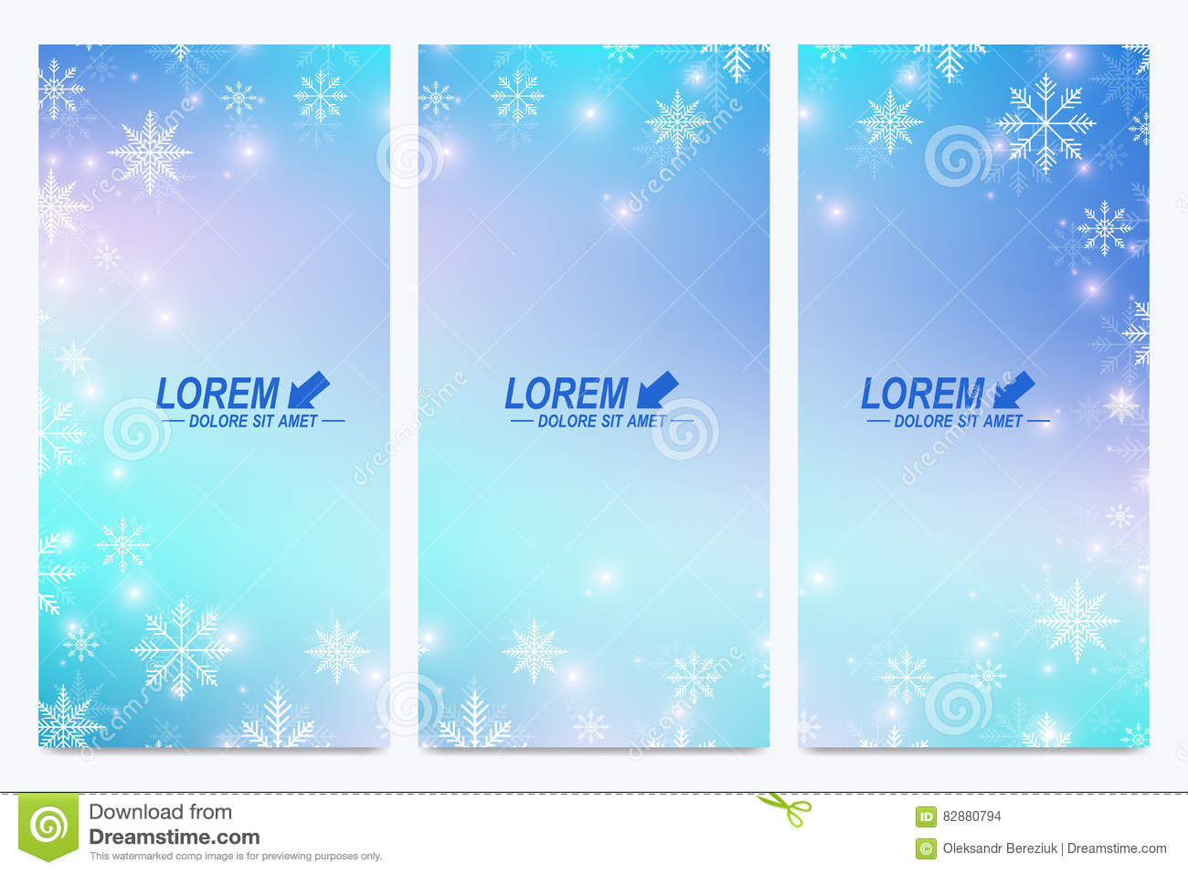 modern happy new year set of vector flyers christmas background