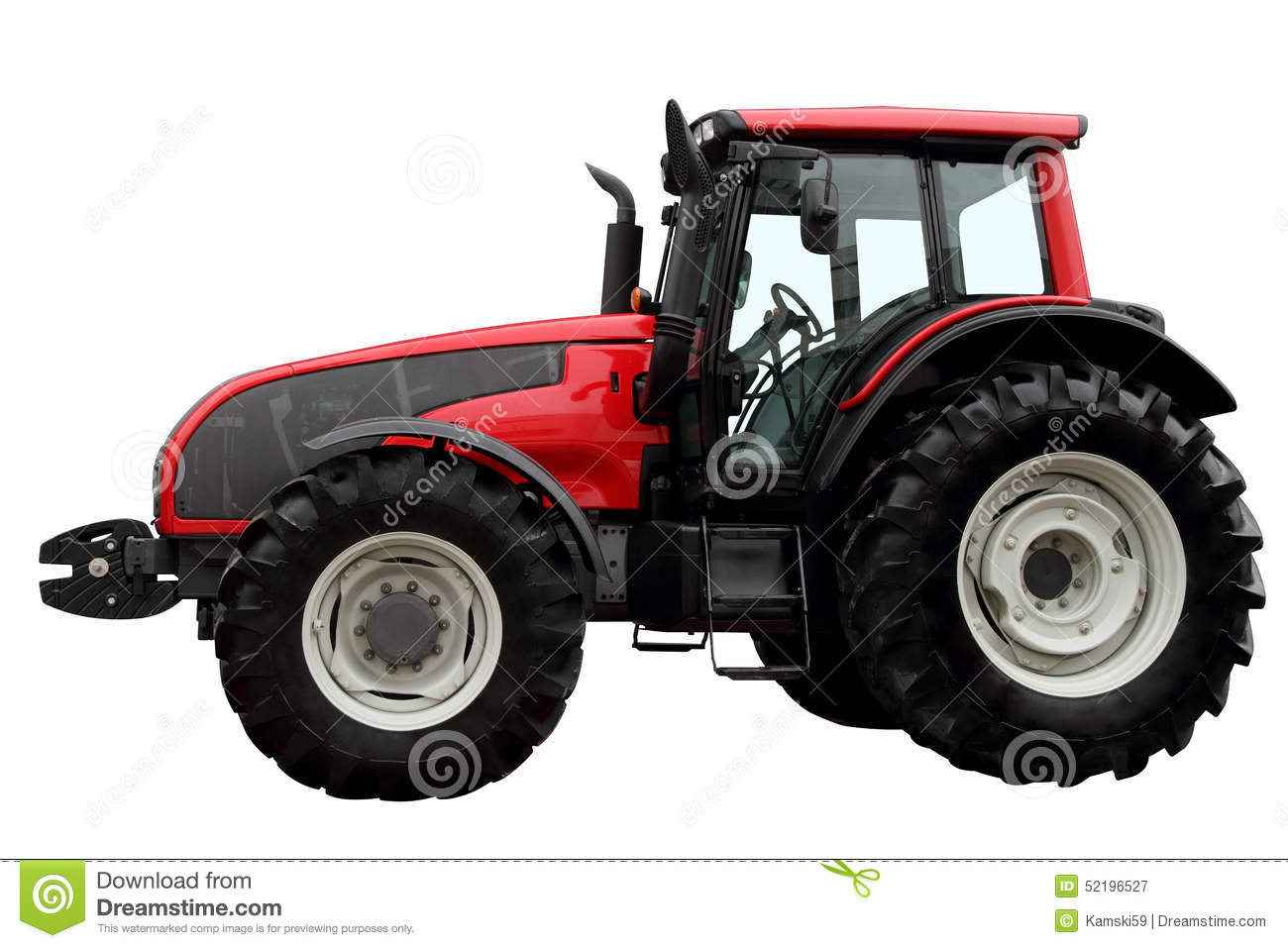 Side Picture Of Tractor : Modern heavy tractor stock image of wheel objects