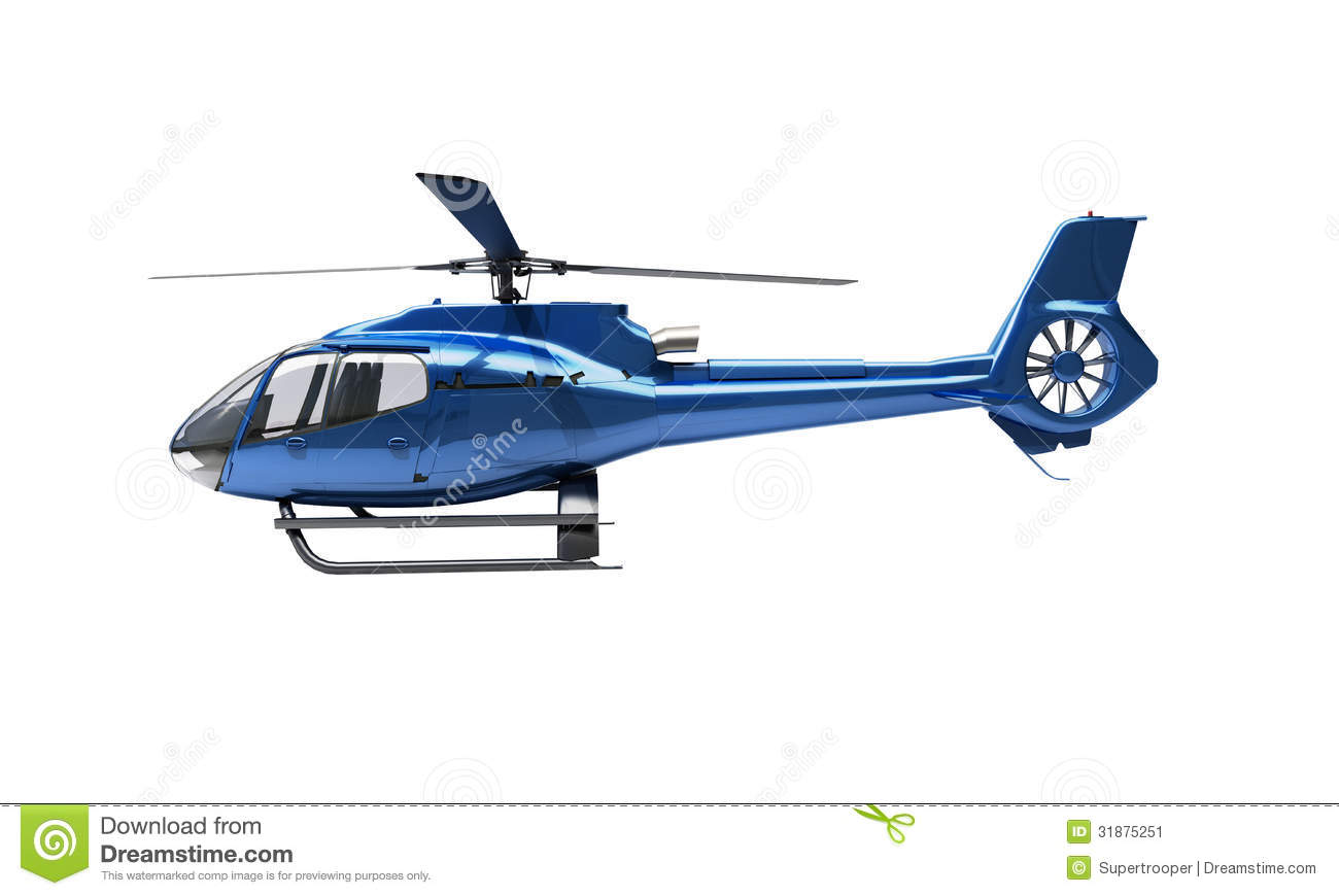 Modern Helicopter Isolated Stock Image - Image: 31875251