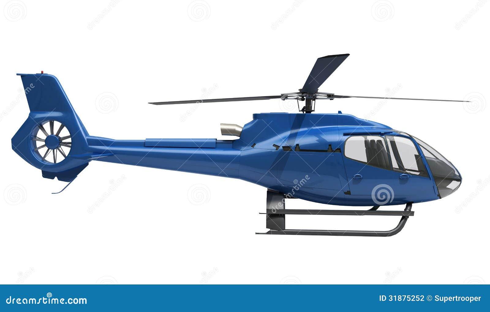 Elicottero Bianco E Blu : Modern helicopter isolated stock photography image