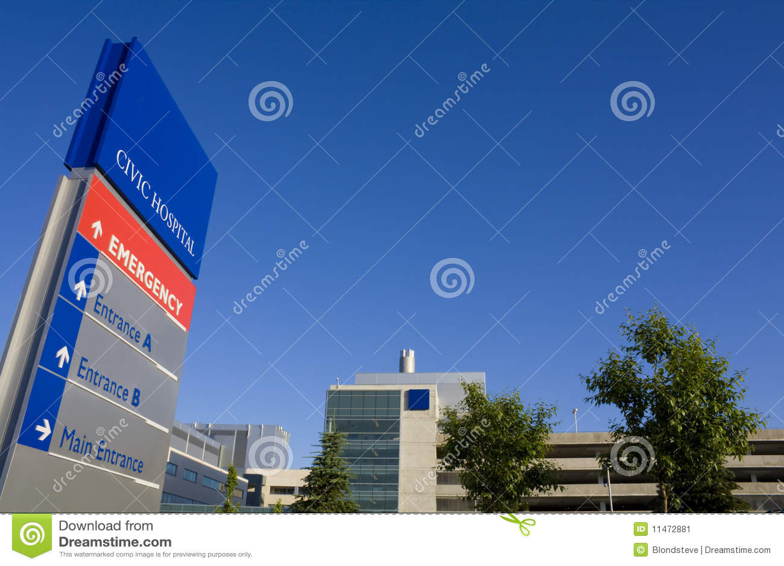 Modern het ziekenhuis en noodsituatieteken