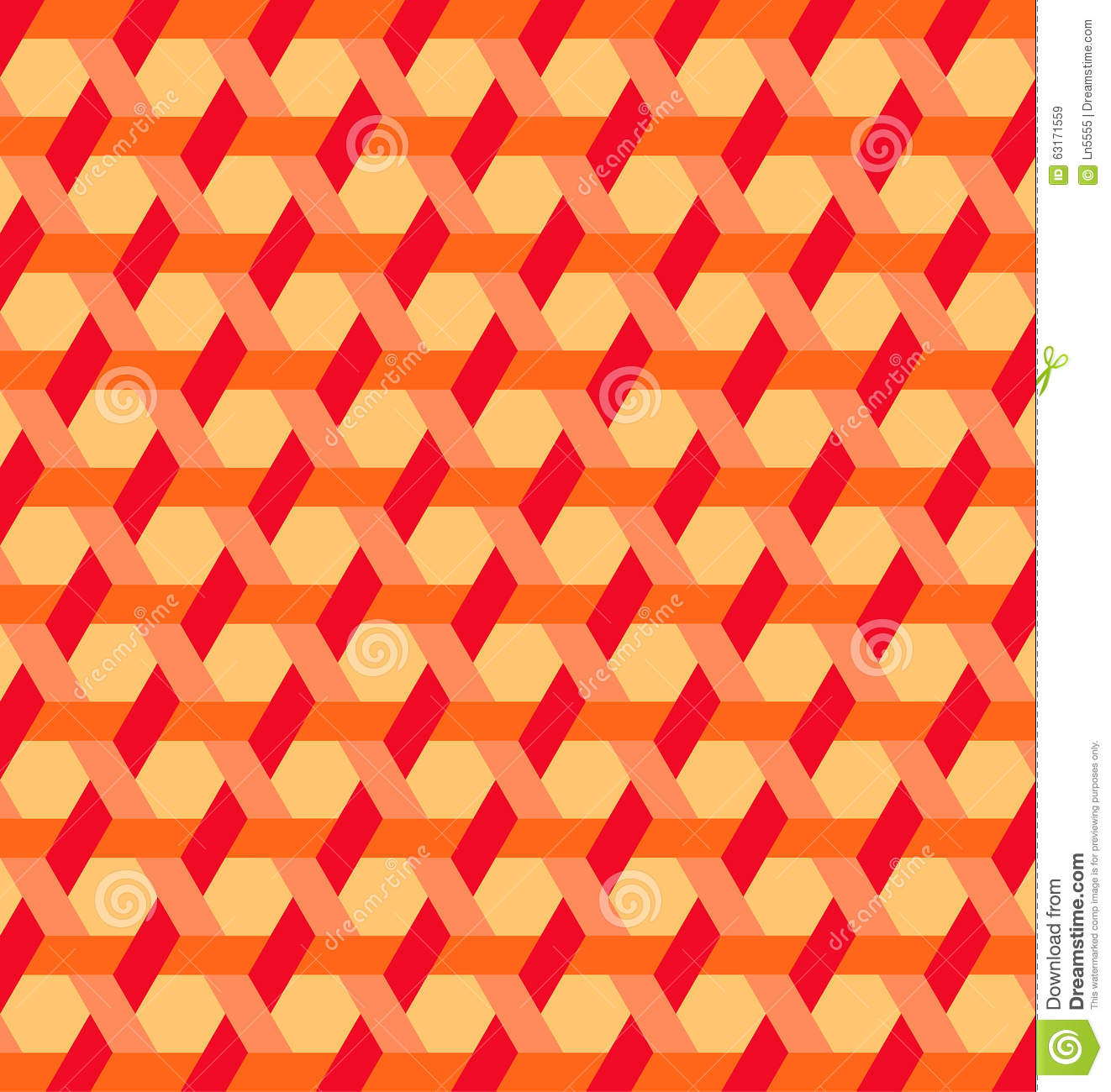 Shades Of Orange Modern Hexagon Shapes And Lines Background Of Red Orange And