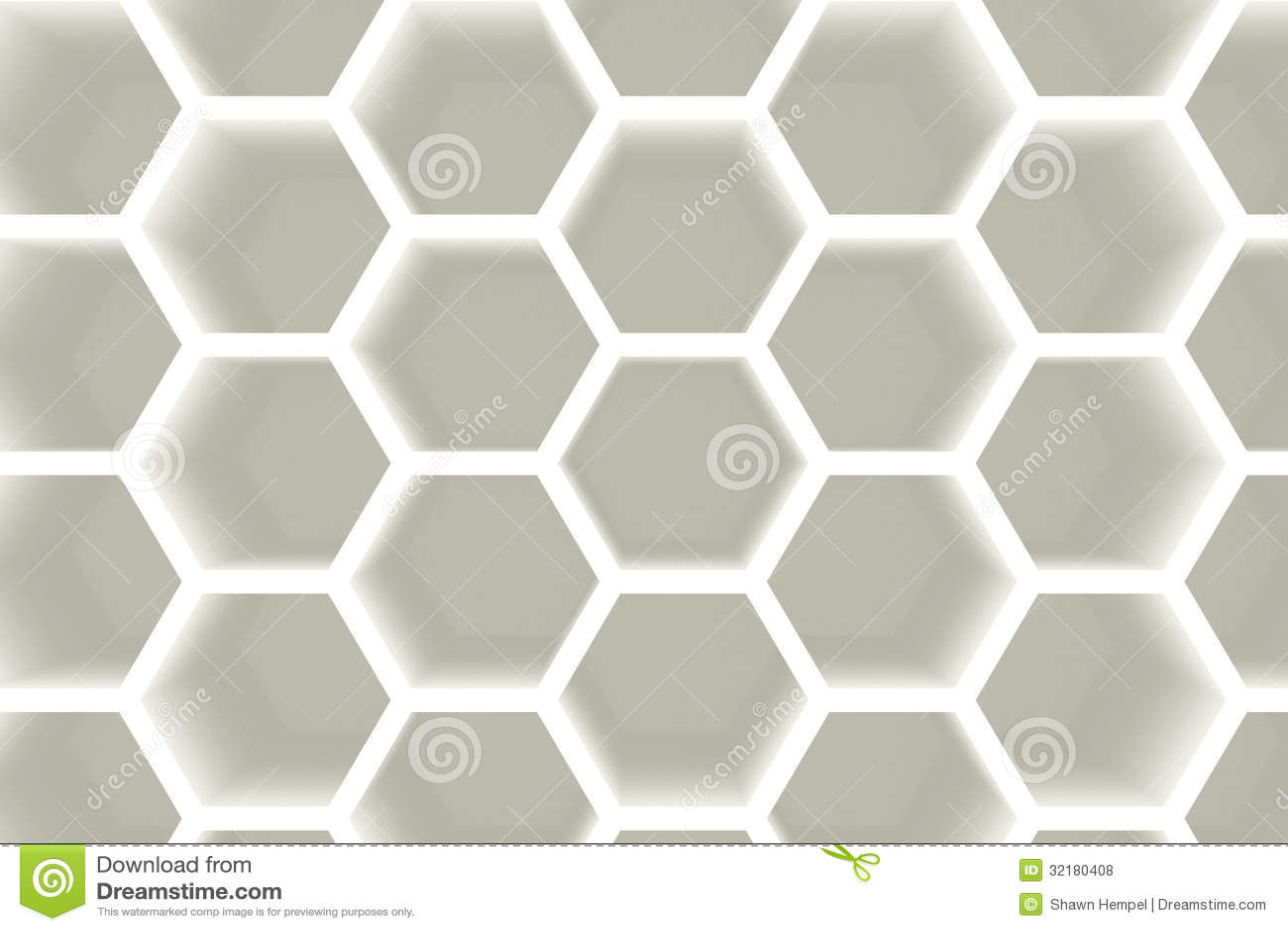Modern Hexagon Shelves Background Royalty Free Stock