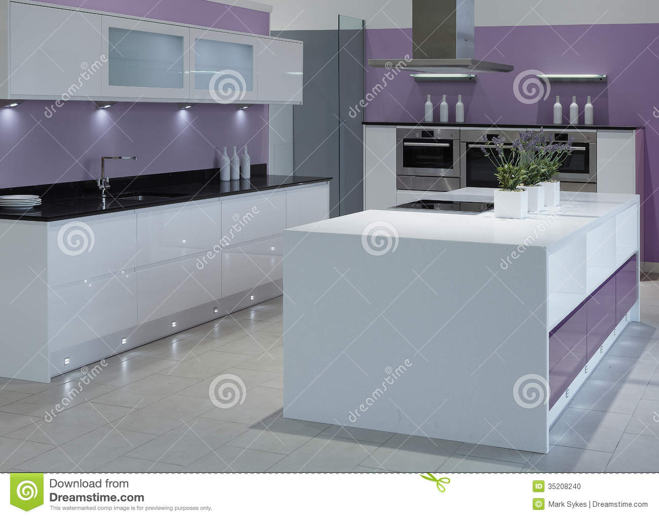Modern High End Luxury Kitchen Stock Photo - Image of aspirational ...