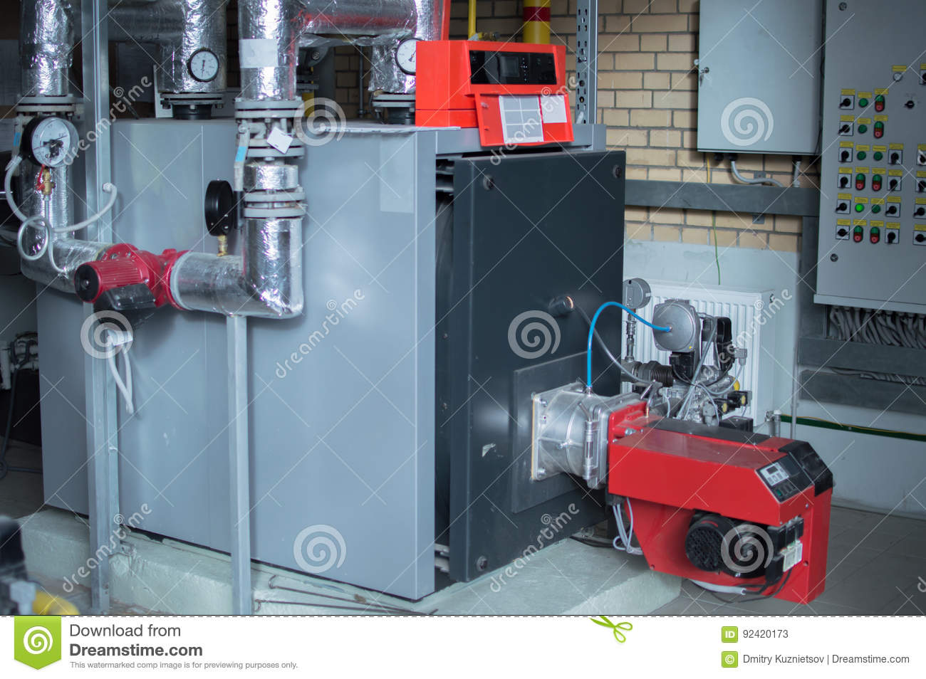 Modern High Power Industrial Gas Boiler With Natural Gas Burner In ...