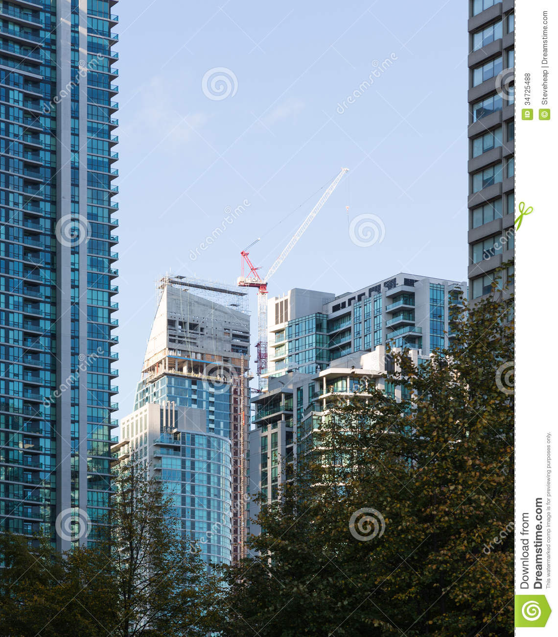 Toronto Apartments: Modern High Rise Apartment Building Toronto Royalty Free