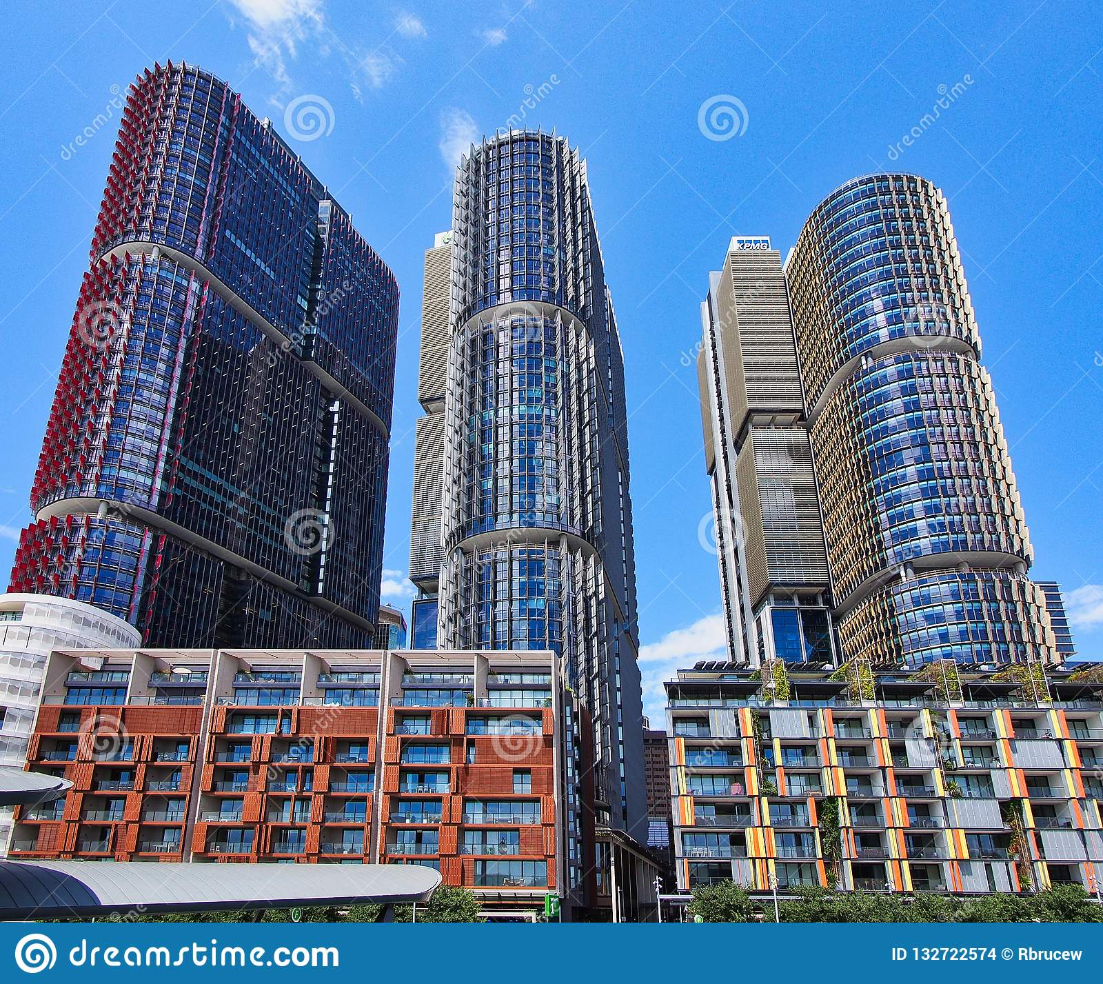 Modern High Rise Apartment Buildings, Barangaroo, Sydney
