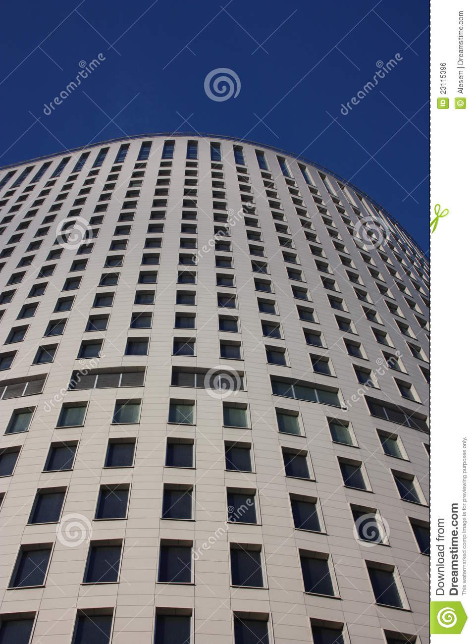 Modern high rise building of concrete royalty free stock for Modern high rise building design