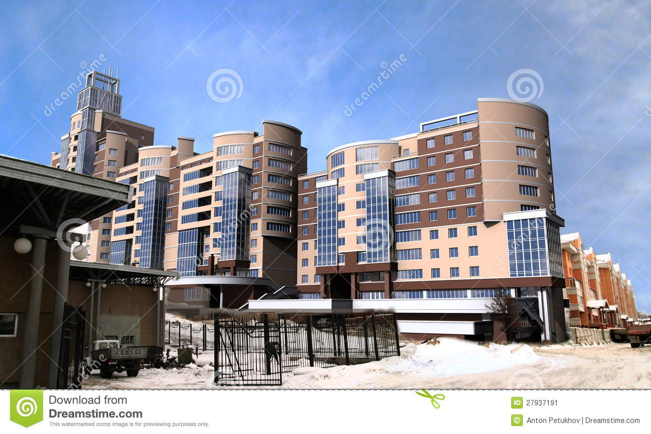 Modern high rise buildings stock illustration image of for Modern high rise building design