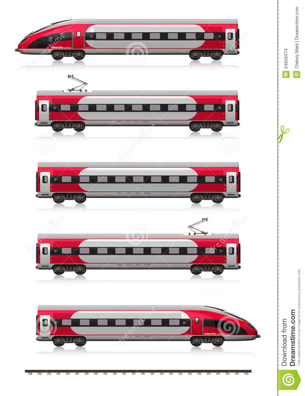 Modern High Speed Train Set Stock Images - Image: 34659474
