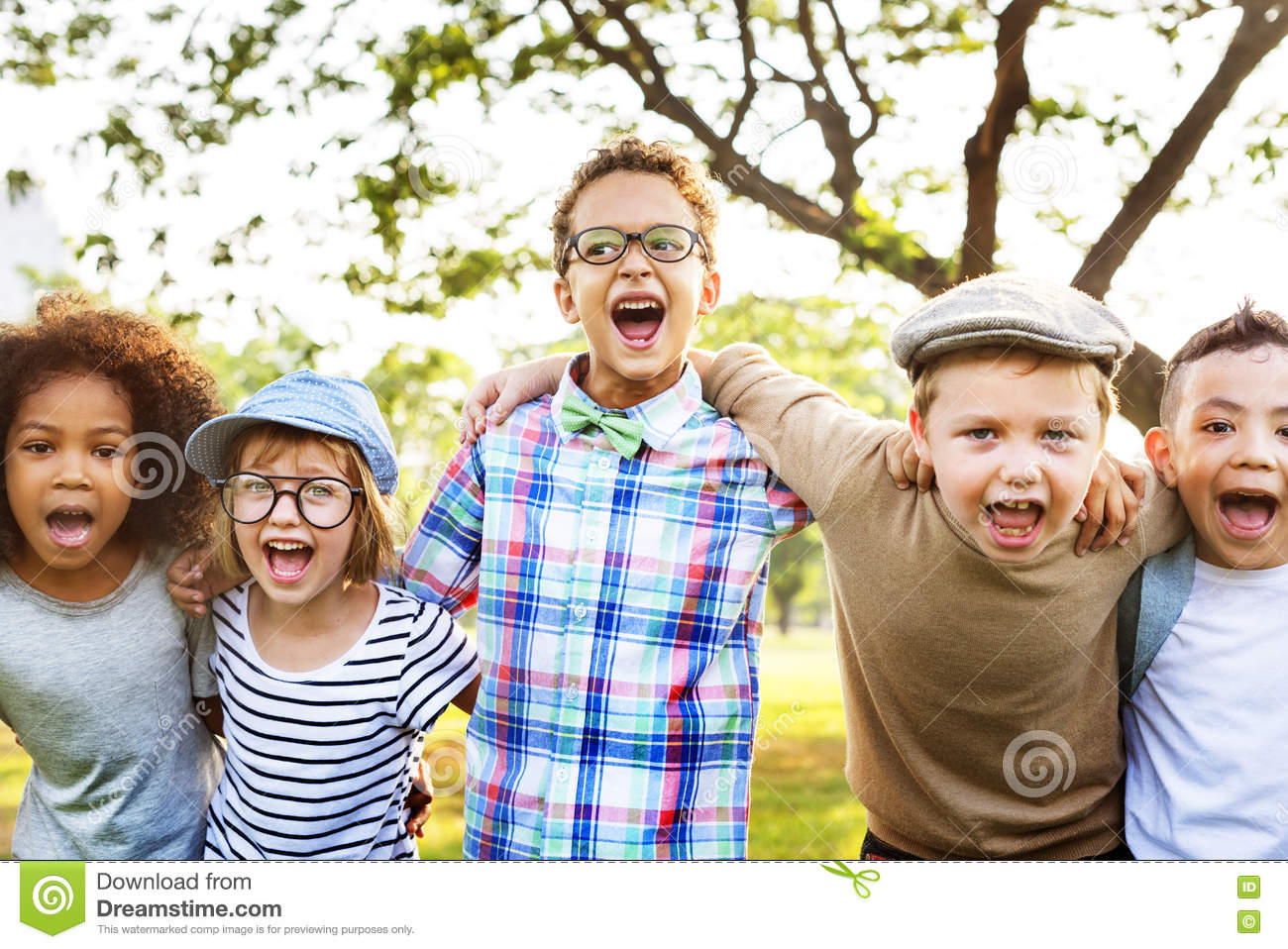 Modern Hipster Children Outdoors Concept Royalty-Free ...