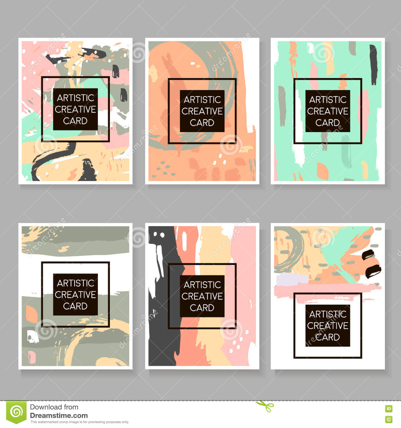 modern hipster set of artistic cards posters placards flyers