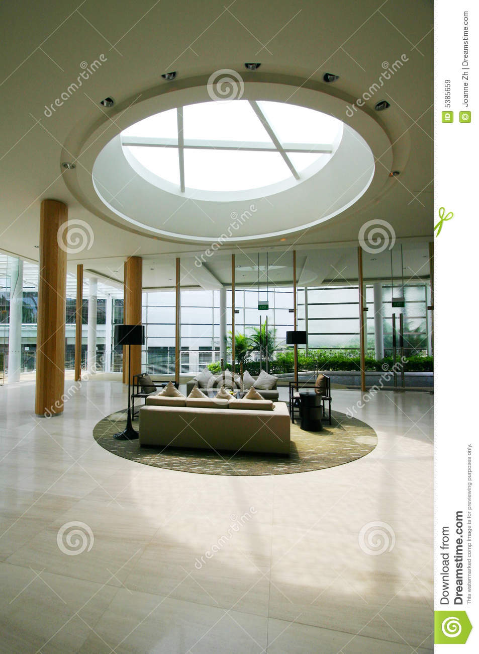 Modern holiday resorts foyer interior