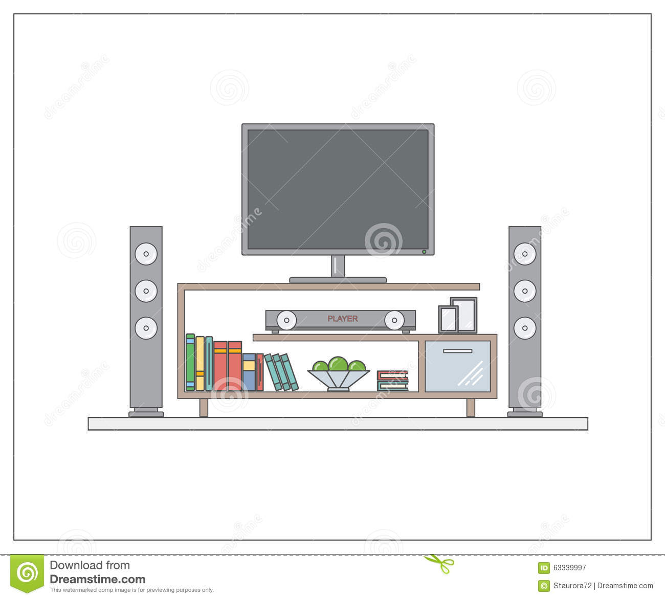 Modern Home Cinema In Living Room One Page Web Design