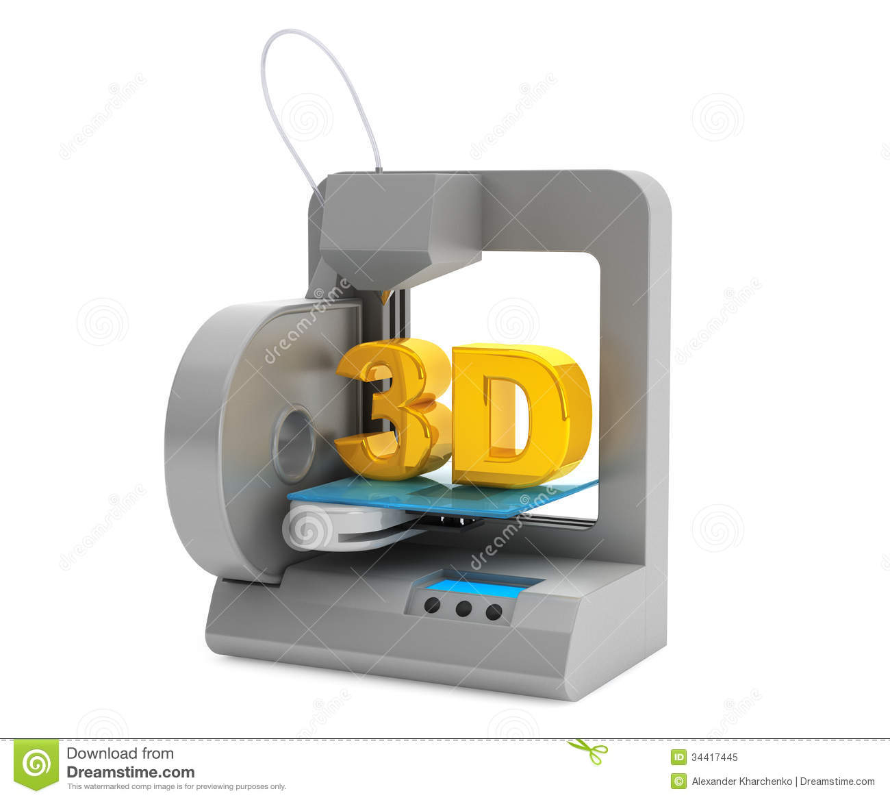 Modern Home 3d Printer Make Object Royalty Free Stock