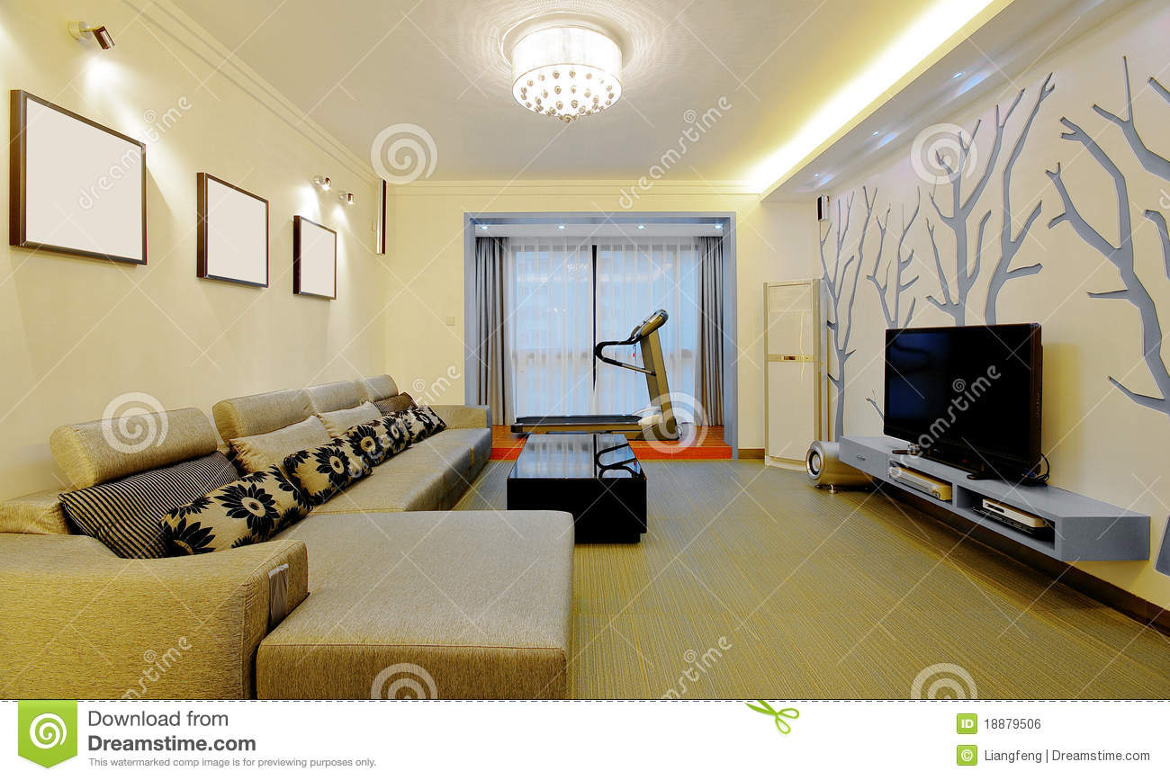 Modern home decorating style royalty free stock image for Decorating a house