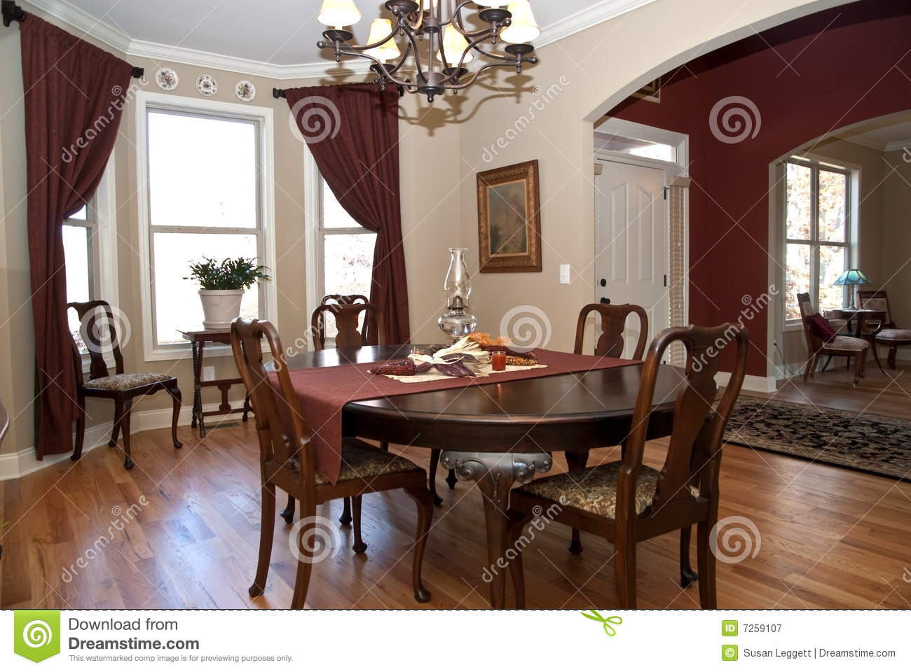 Modern Home/Entry/Dining Room Stock Image - Image of house ...