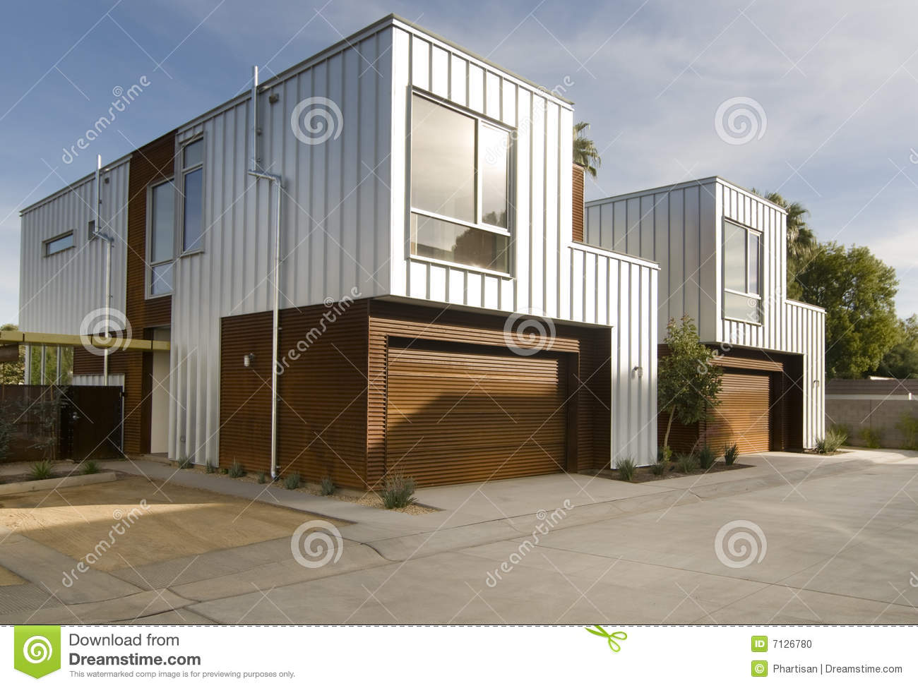 Exterior: Modern Home Exterior Architecture Stock Photo