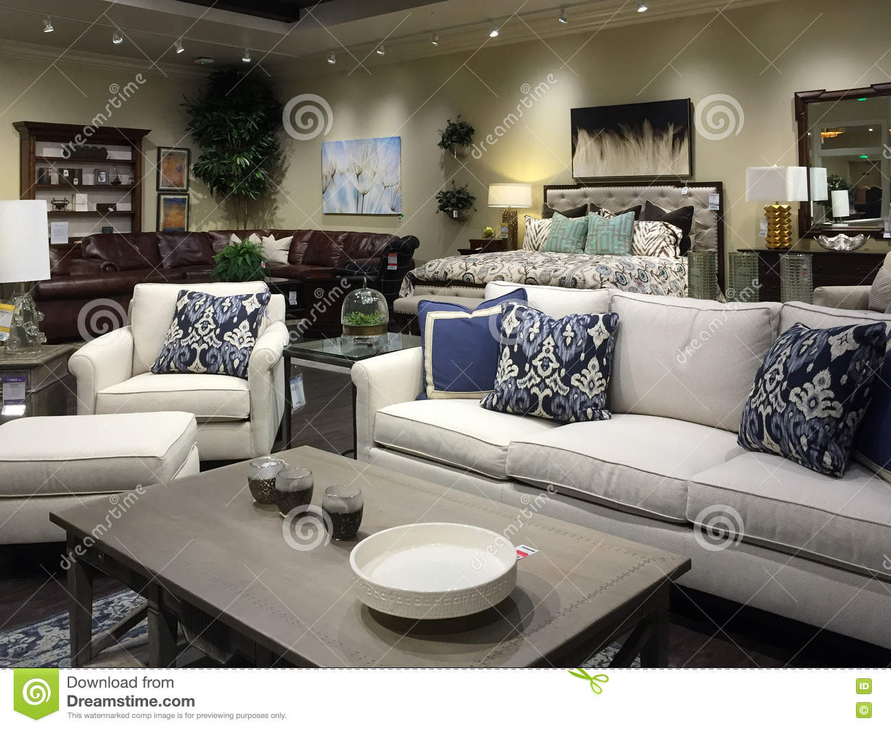 Nice sofa selling at store editorial image 48208040 Home furniture outlet cerritos