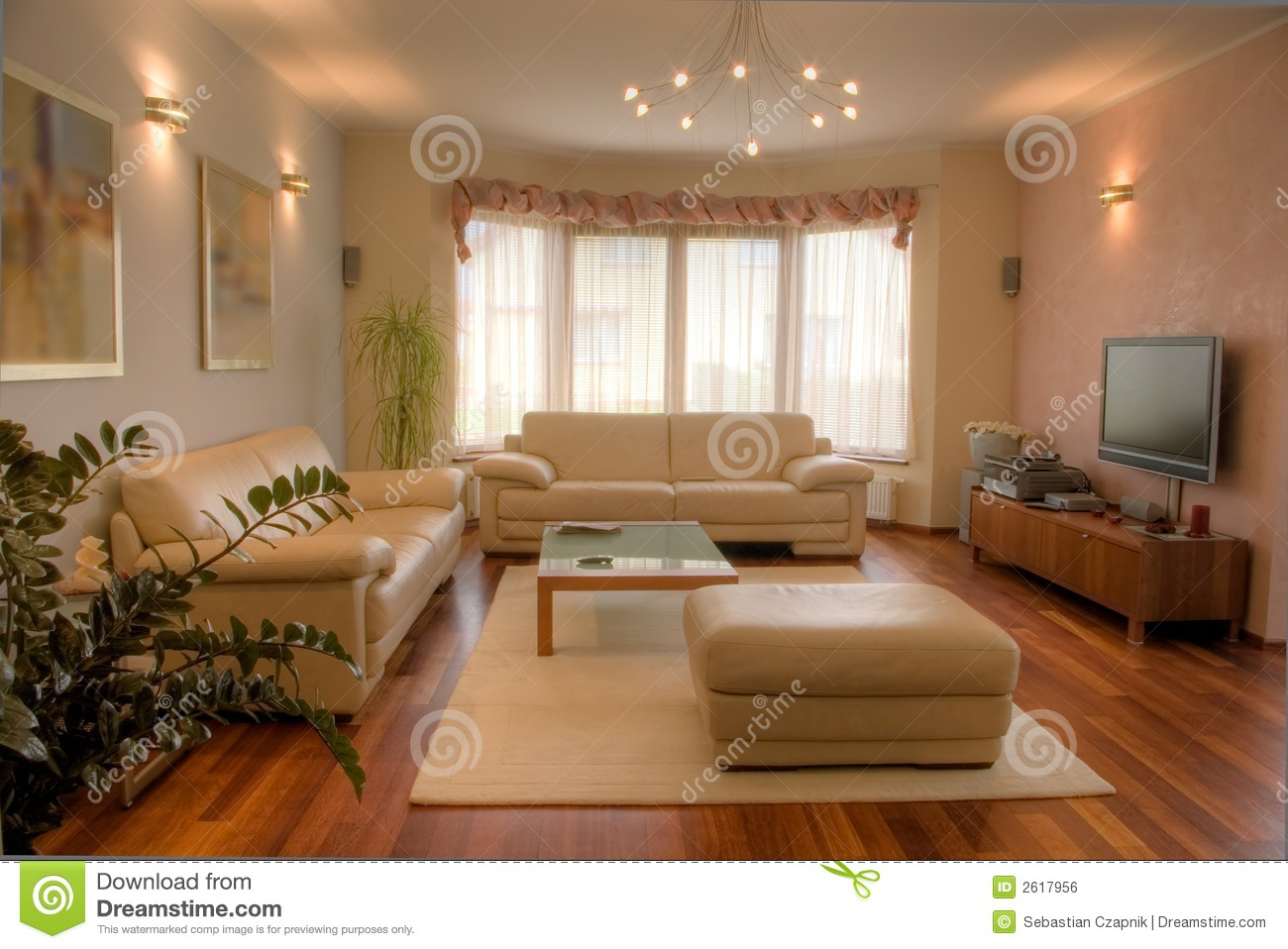 Modern home interior stock photo image of elegant for Maison style contemporain