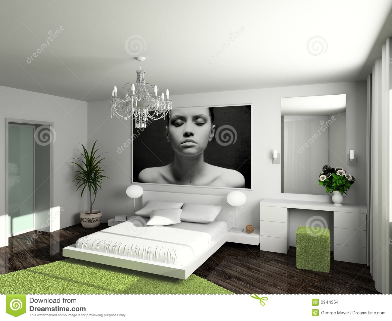 Modern home interior stock images image 2944354 - Decoration interieure chambre a coucher ...
