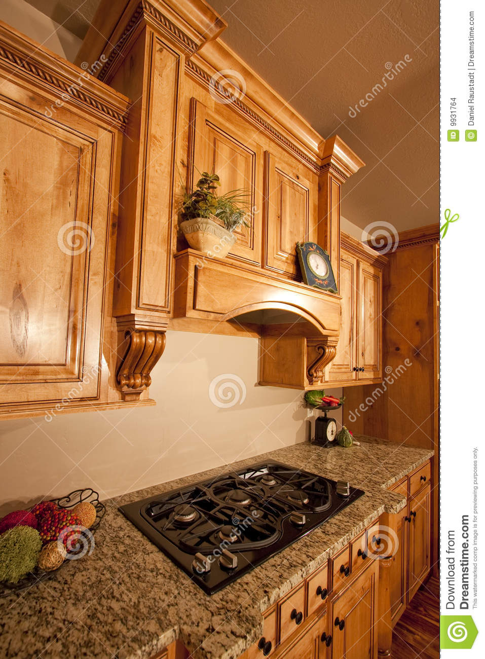 Home on the range stock photo 89271828 for Mid range kitchen cabinets