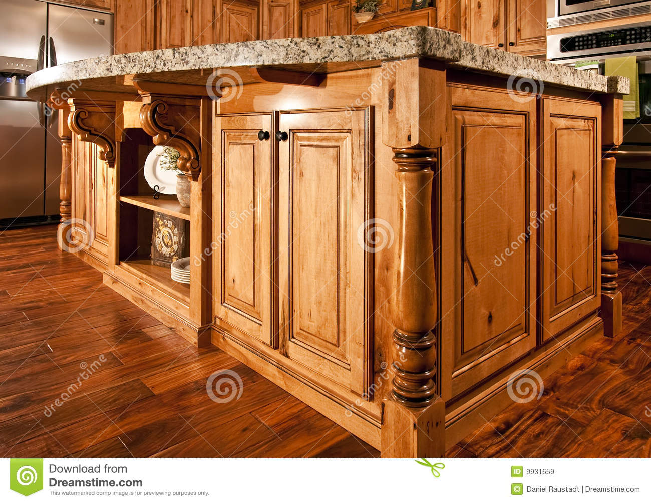 Center Island Kitchen Modern Home Kitchen Center Island Countertop Royalty Free Stock