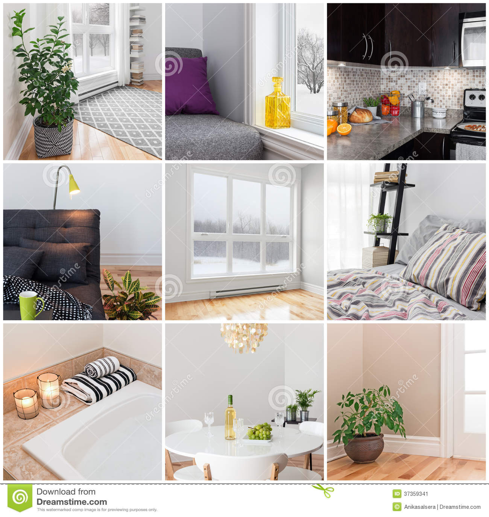 Modern home stock image image 37359341 for Living room bedroom bathroom kitchen