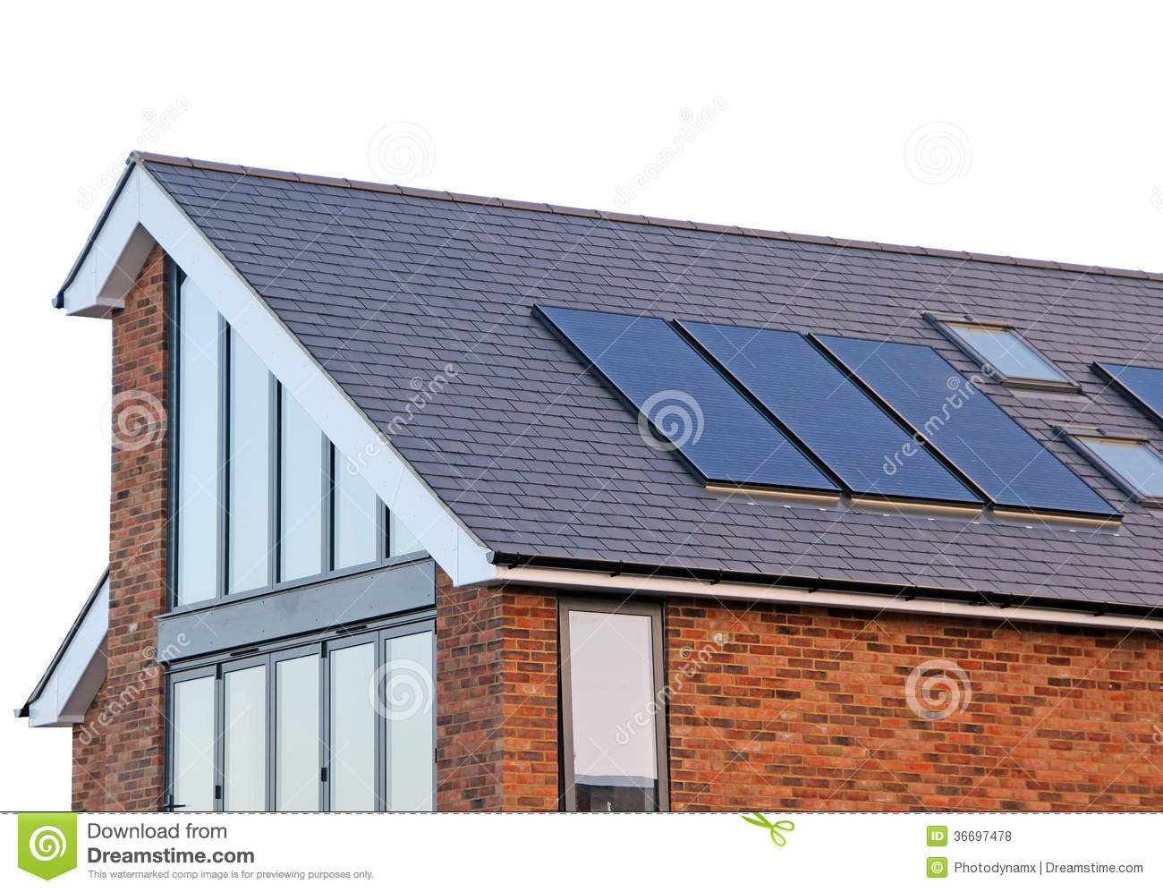 Modern Home Solar Panels Royalty Free Stock Photos Image