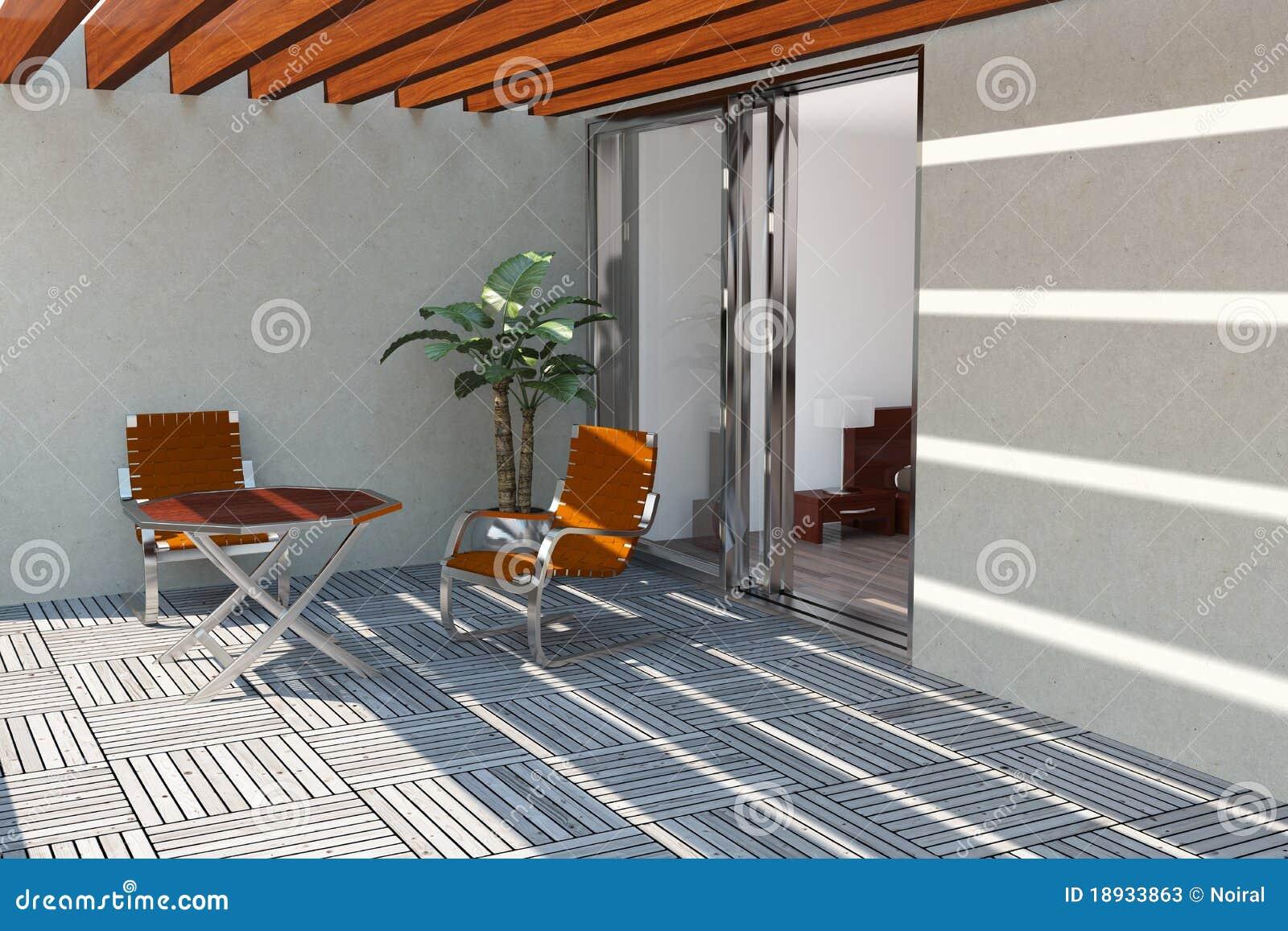 Modern home terrass