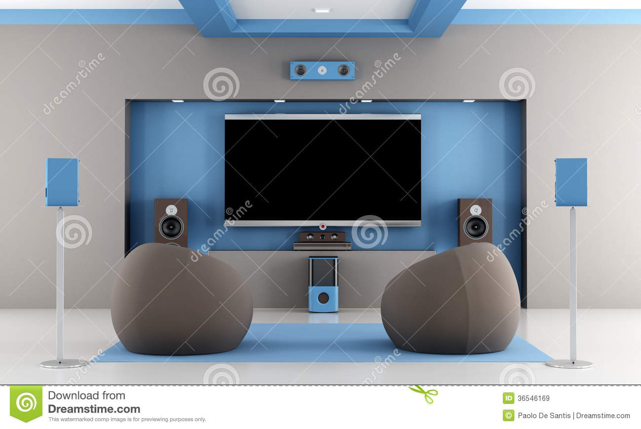 modern home theater royalty free stock images - Modern Home Theater
