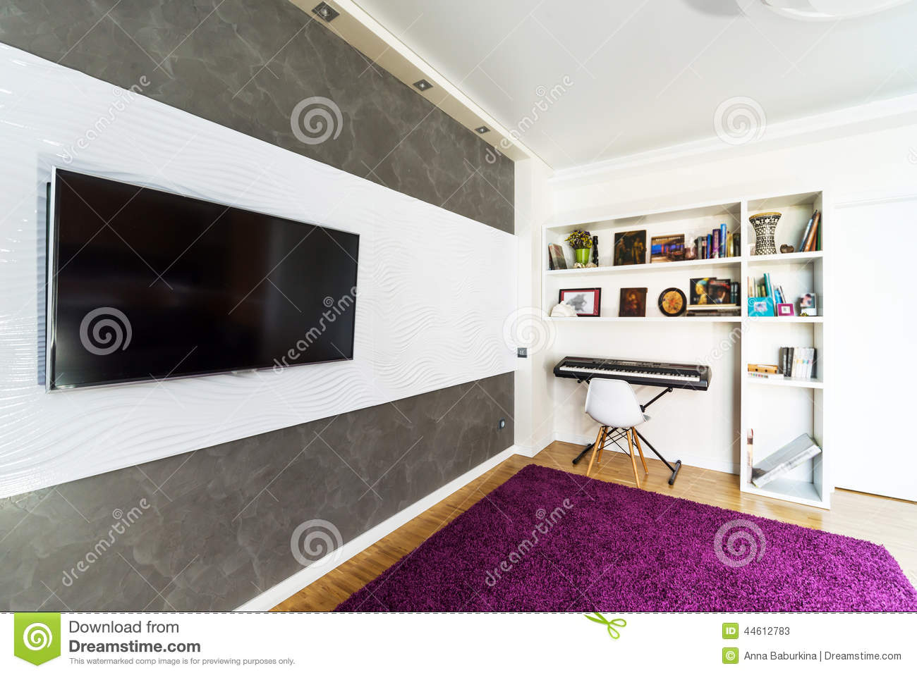 Modern Home Theater Interior Stock Image Image Of Lifestyle Decor 44612783