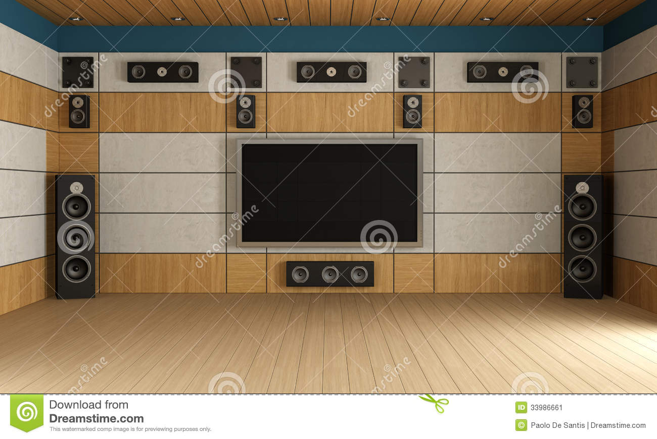 modern home theater room stock image - image: 33986661