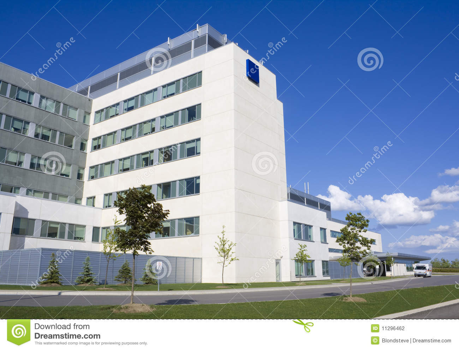 Modern hospital building stock photo image of bright for Modern hospital building design