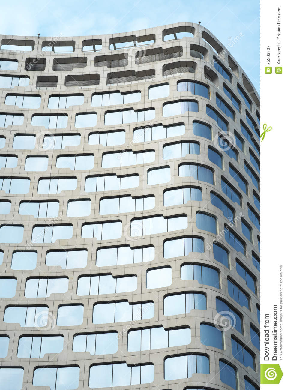 Modern hotel architecture stock image image of surface for Modern and postmodern design of building