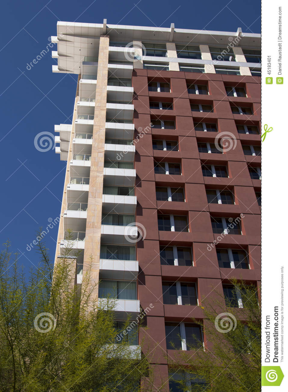 Modern Hotel Building Stock Photo