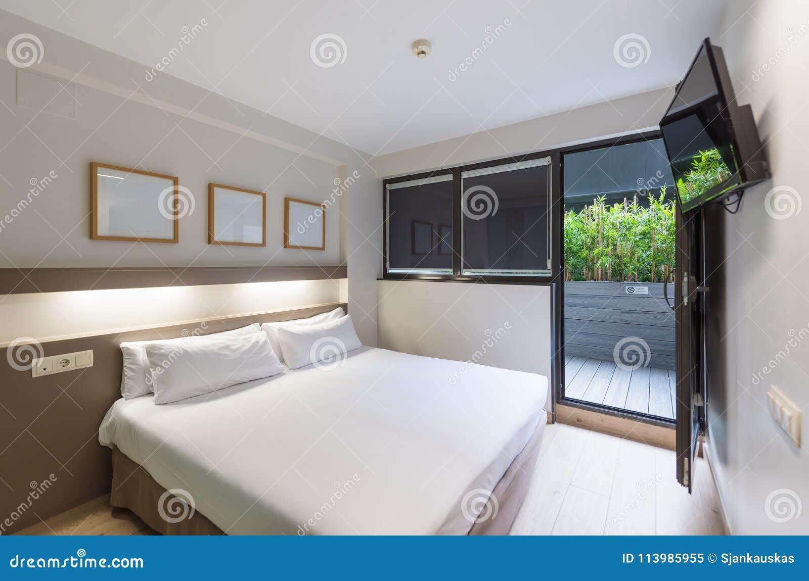 Modern Hotel Double Room With Balcony Interior Design Stock Image Image Of Balcony Hotel 113985955
