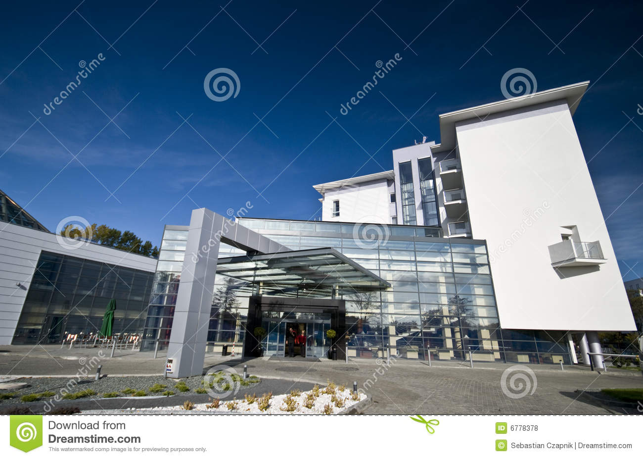 Modern hotel exterior stock photo image of design for Modern hotel